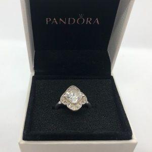 Pandora Sterling  Silver 925 ALE CZ  Ring Size 48